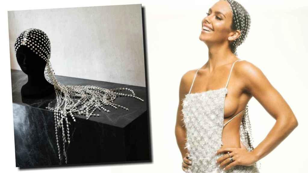 Cristina Pedroche con su cascada de luz de 2021 cristales.