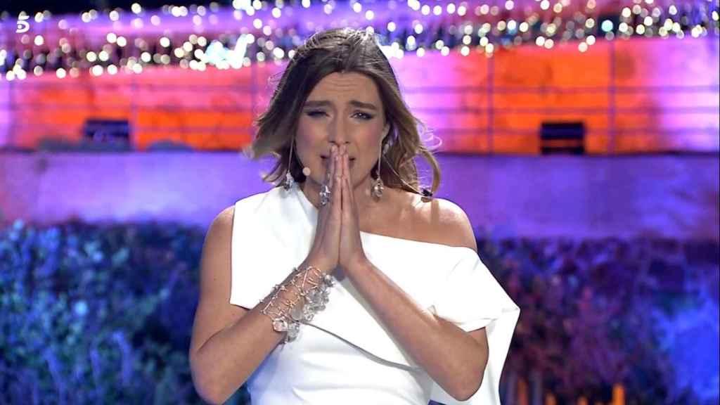 Sandra Barneda, en las campanadas de Telecinco.