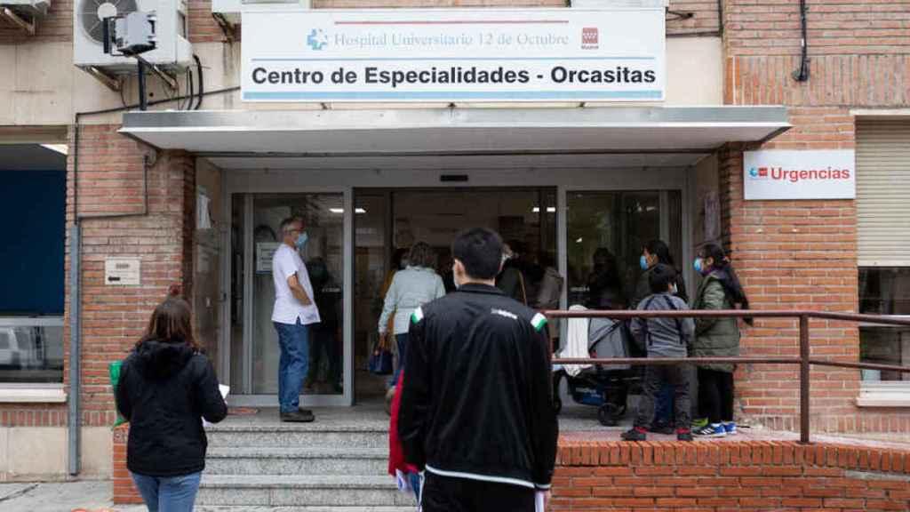 El Centro de Especialidades de Orcasitas, en Madrid.