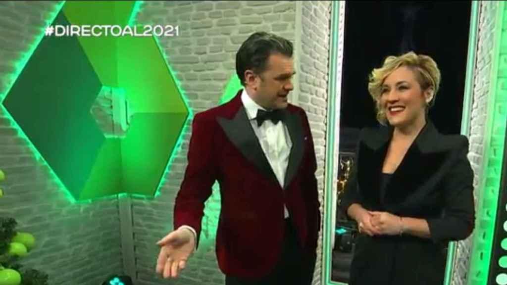 Iñaki López y Cristina Pardo, en las campanadas de LaSexta.
