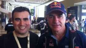 Darío Romero con Carlos Sáinz en una imagen de archivo