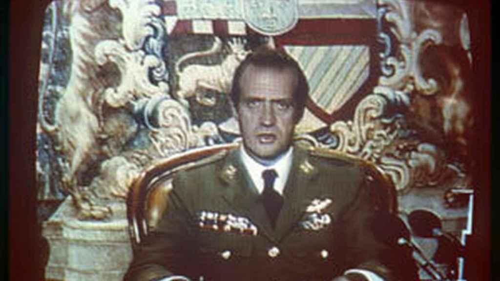 Emisión en directo de Juan Carlos I el 23-F.