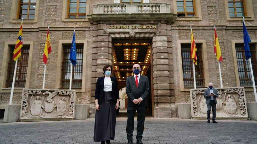 Isabel Díaz Ayuso y Javier Lambán.