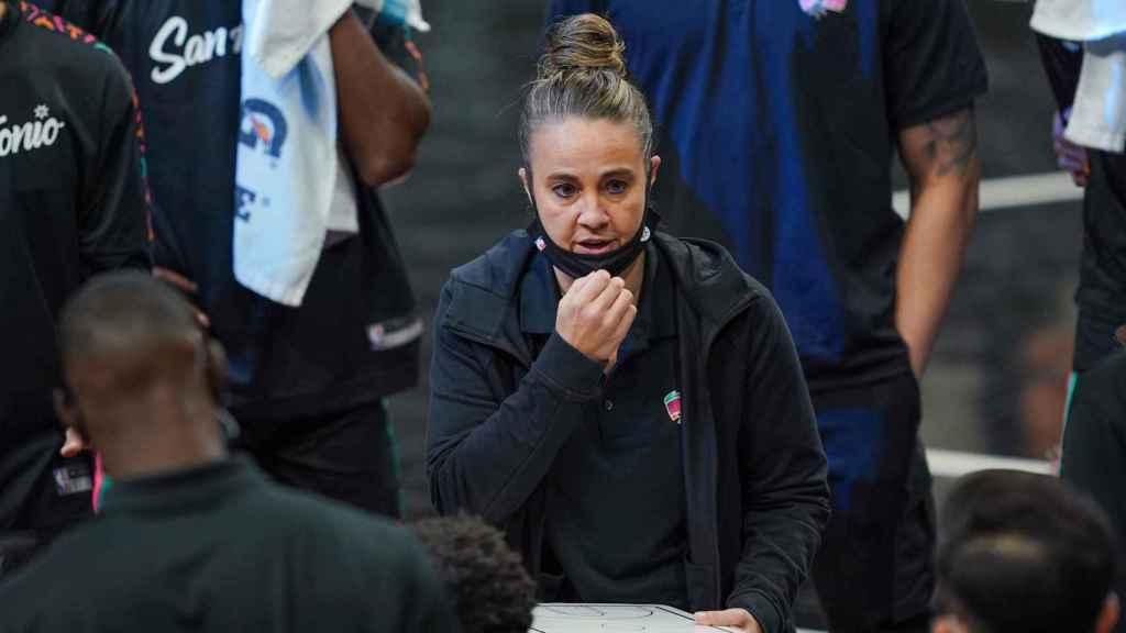Becky Hammon, durante el partido entre San Antonio Spurs y Los Angeles Lakers
