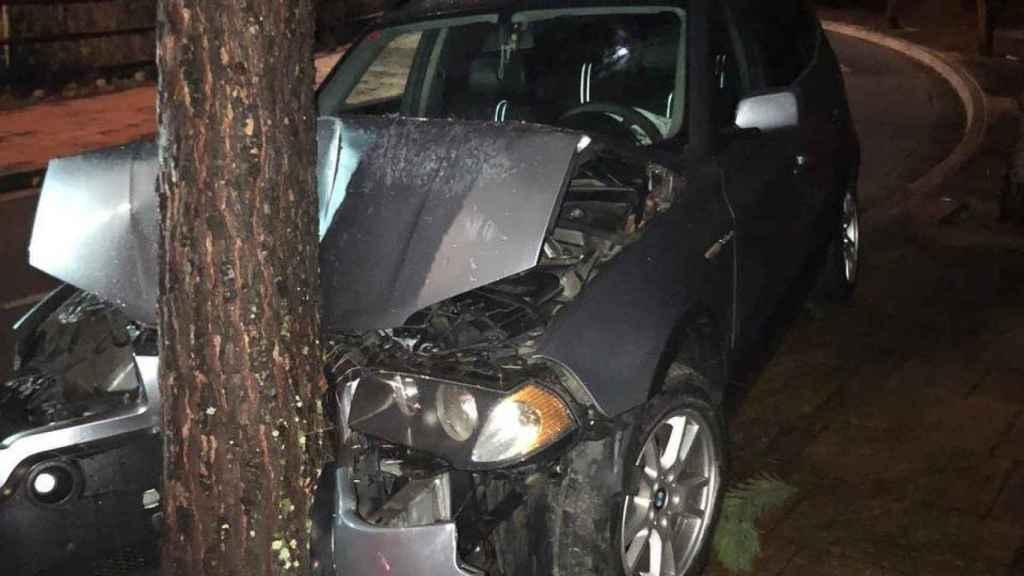 El coche accidentado.