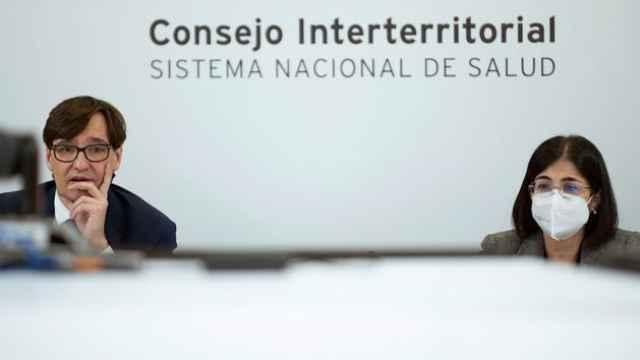 Salvador Illa y Carolina Darias en un Consejo Interterritorial de Salud.