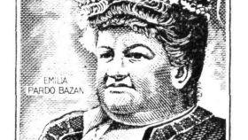 El sello de Emilia Pardo Bazán que salió en 1972.