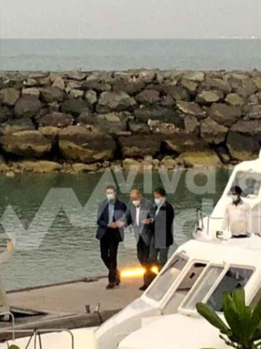 El rey emérito en la isla de Yas en Abu Dhabi.