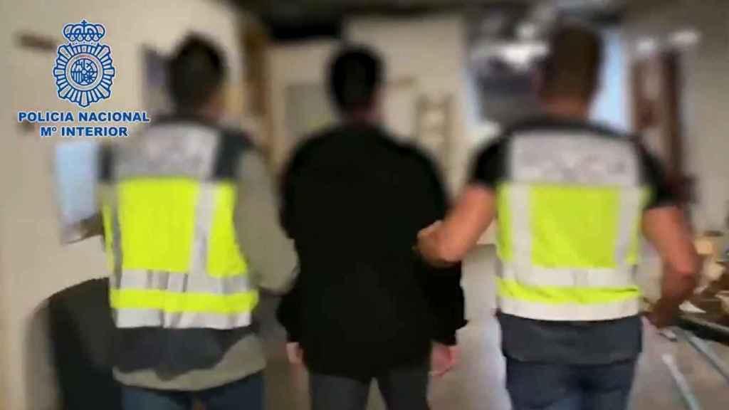 El momento de la detención.