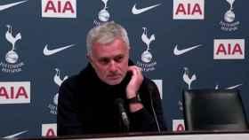 José Mourinho, en rueda de prensa con el Tottenham