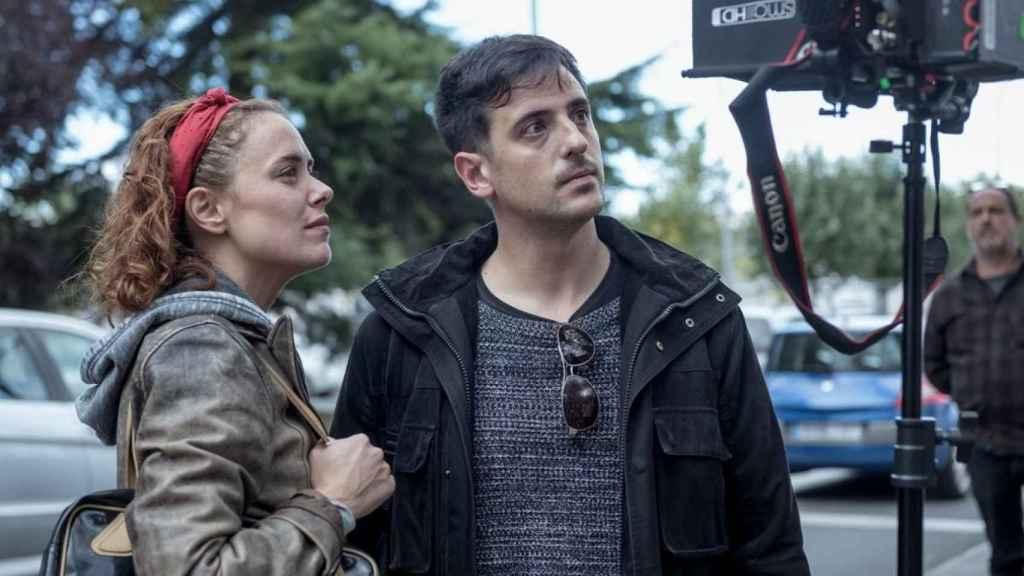 David Pérez Sañudo en el rodaje de Ane.