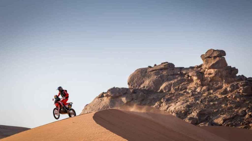 Joan Barreda en la etapa 2 del Rally Dakar 2021