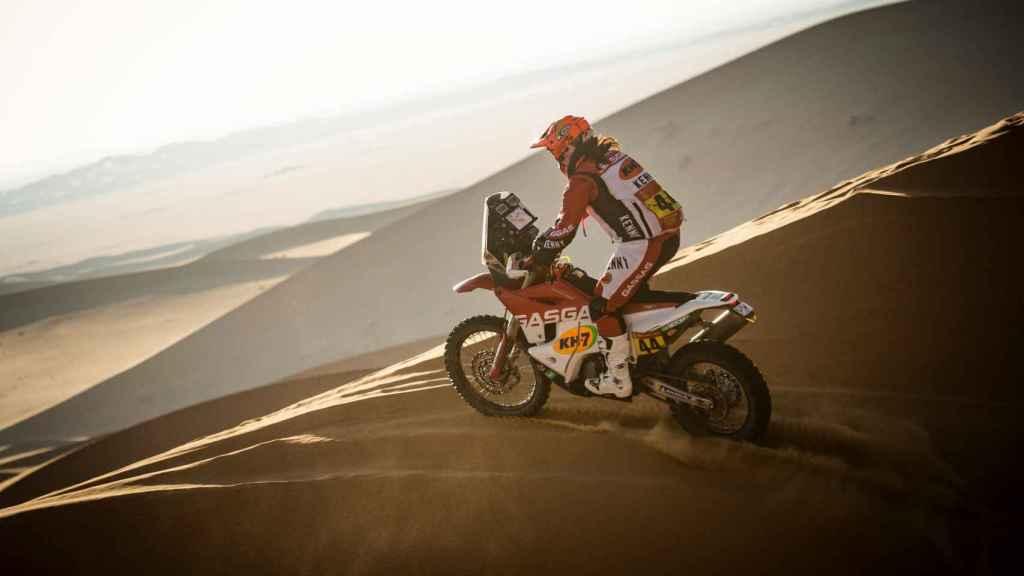 Laia Sanz en la segunda etapa del Rally Dakar 2021