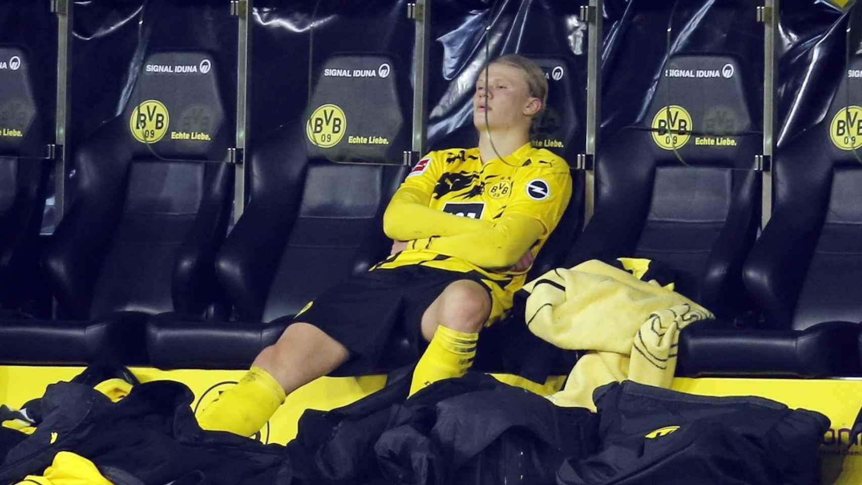 Erling Haaland, durante un partido del Borussia Dortmund