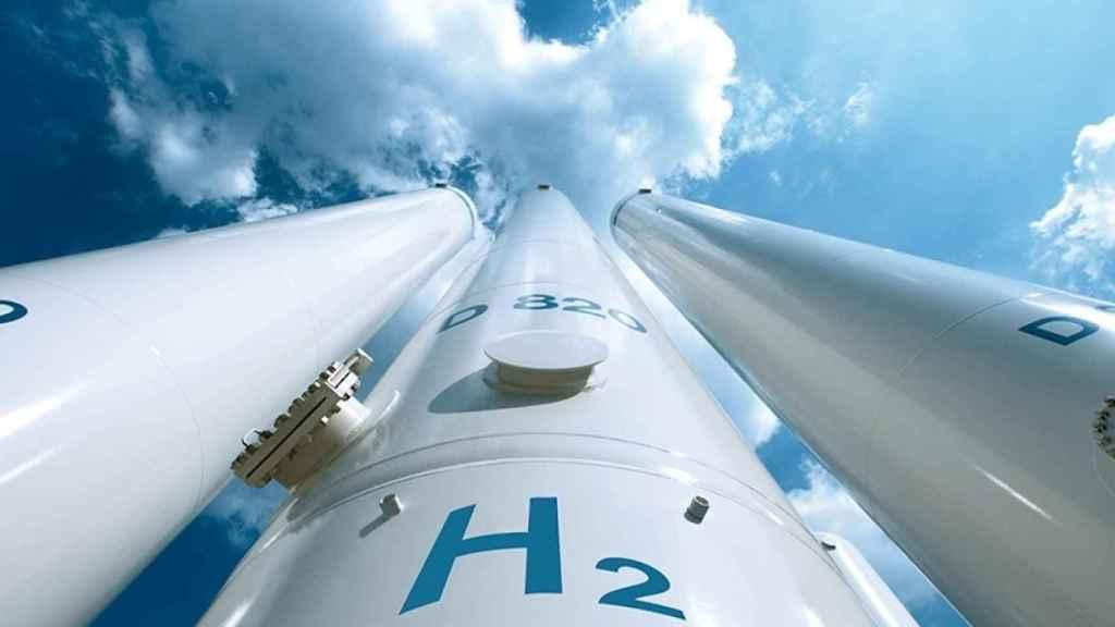Tanques de hidrógeno, en una imagen de recurso