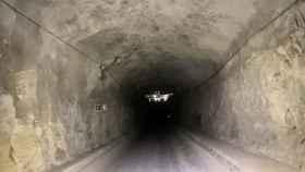 Uno de los sistemas de reconocimiento con drones de Hovering Solutions en un túnel