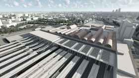 Estación de Chamartín tras ampliación en marcha.