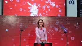 Sol Daurella, la presidenta de Coca-Cola European Partners, en la salida a bolsa de la compañía.