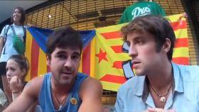 Un joven independentista asegurando que los andaluces, extremeños y castellanomanchegos no trabajan.
