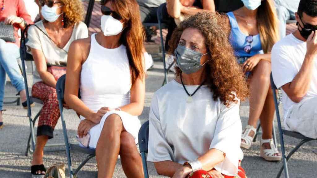 Belinda Alonso, viuda de Ángel Nieto, en el último homenaje realizado al motociclista en Ibiza.