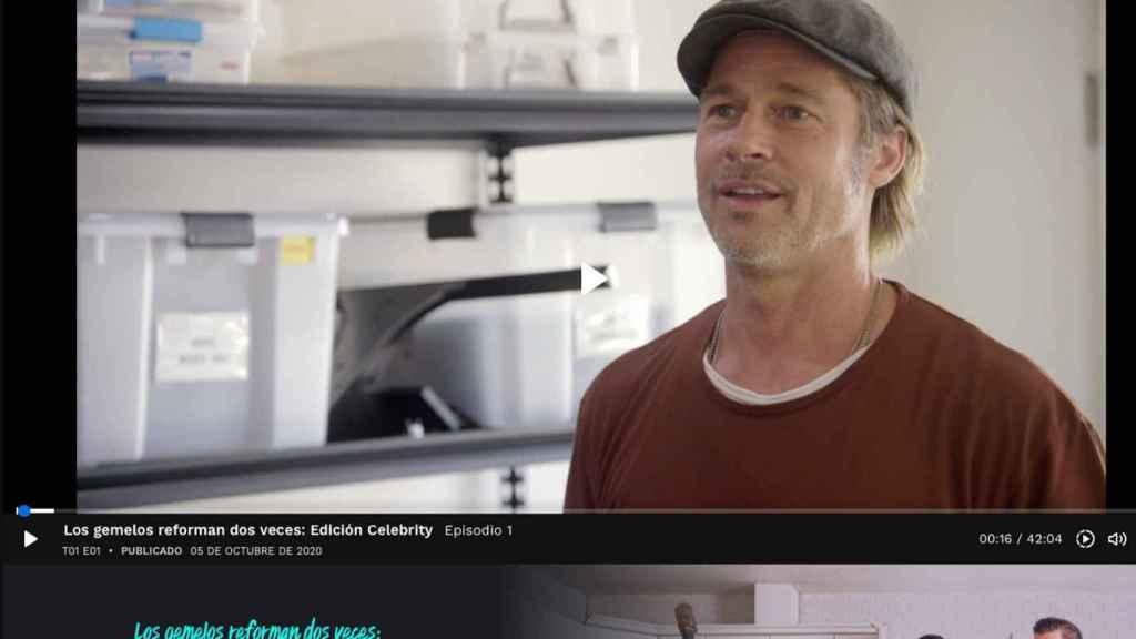 Brad Pitt en el programa 'Los gemelos reforman dos veces'.