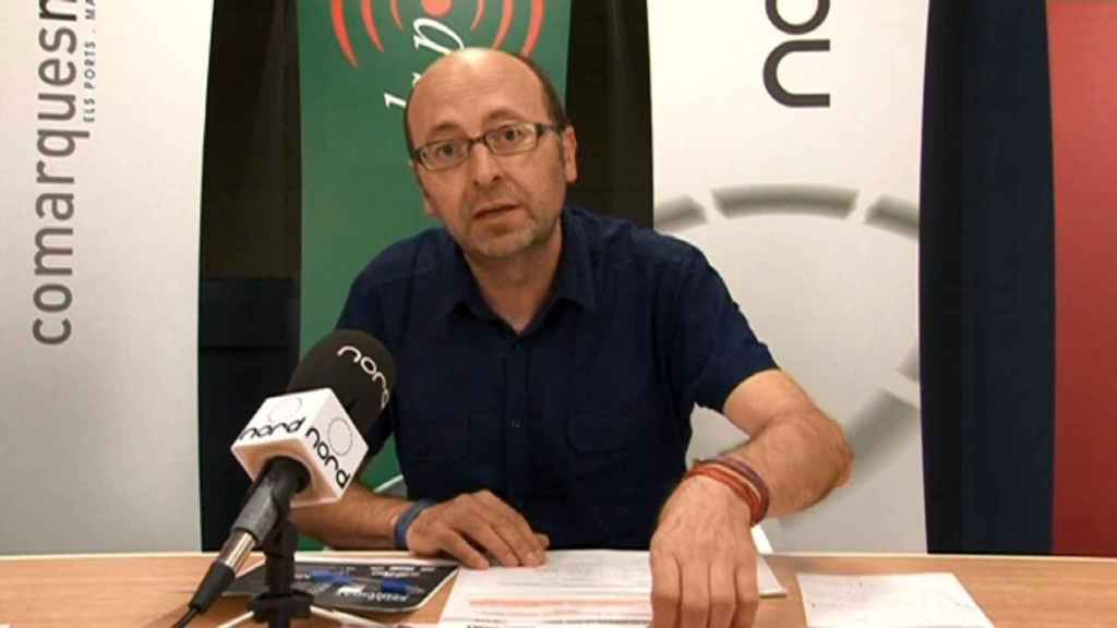 Francis Puig, en una imagen de su televisión. NORD TELEVISIÓ