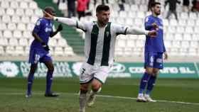 Willy celebra el gol del Córdoba