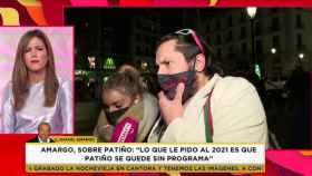 Rafael Amargo durante su llamada al programa, presentado este lunes por Nuria Marín.