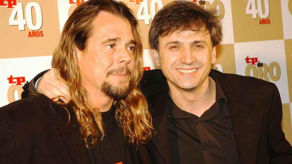 Juan Muñoz y José Mota en los años que eran pareja artística.