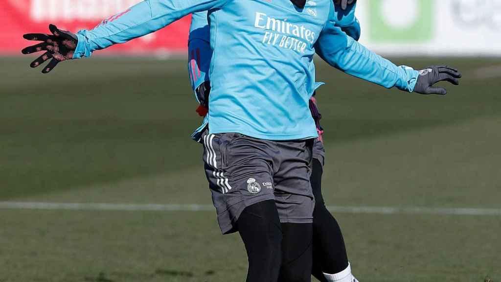 Mariano Díaz se entrena