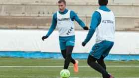 Ortuño en un entrenamiento. Foto: Albacete Balompié