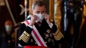 El rey Felipe VI en la ceremonia de la Pascua Militar.