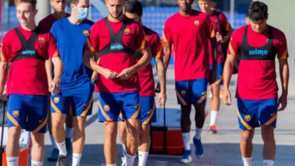 Jugadores del Barça B