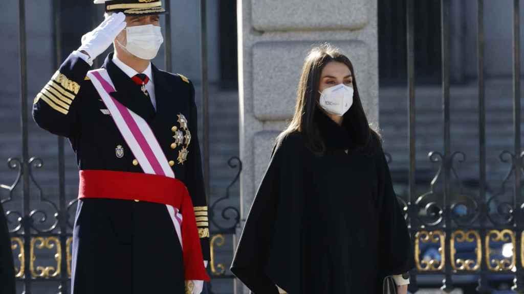 Felipe y Letizia en la ceremonia de la Pascua Militar.