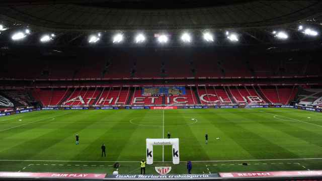 San Mamés, antes del Athletic-Barça
