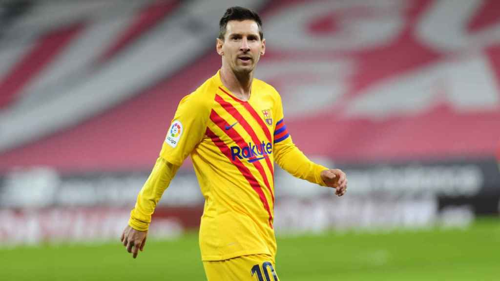 Leo Messi durante el Athletic-Barça