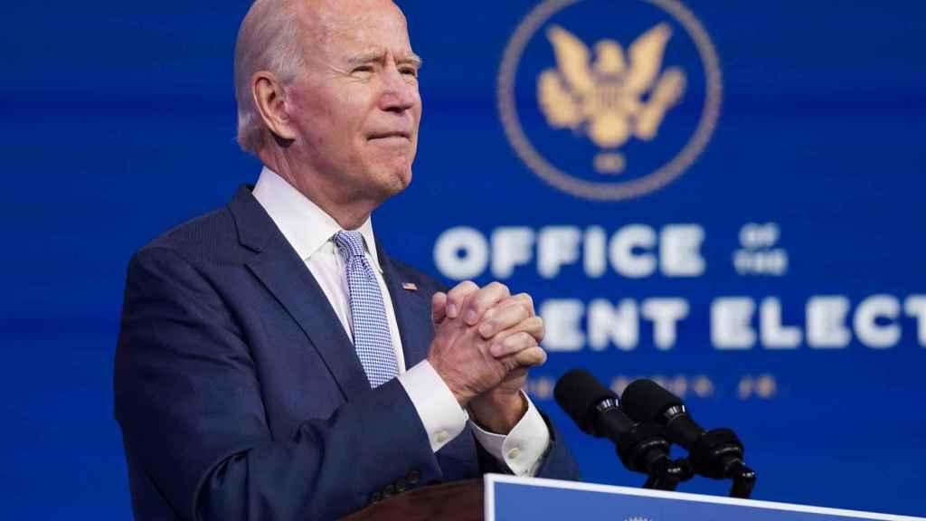 El presidente electo de EEUU, Joe Biden, comparece para condenar el asalto trumpista al Capitolio.