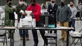 Recuento de votos en Georgia.