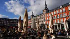 La Plaza Mayor, repleta durante estas Navidades.