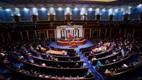 El Congreso de Estados Unidos durante la ratificación de Joe Biden como presidente electo.