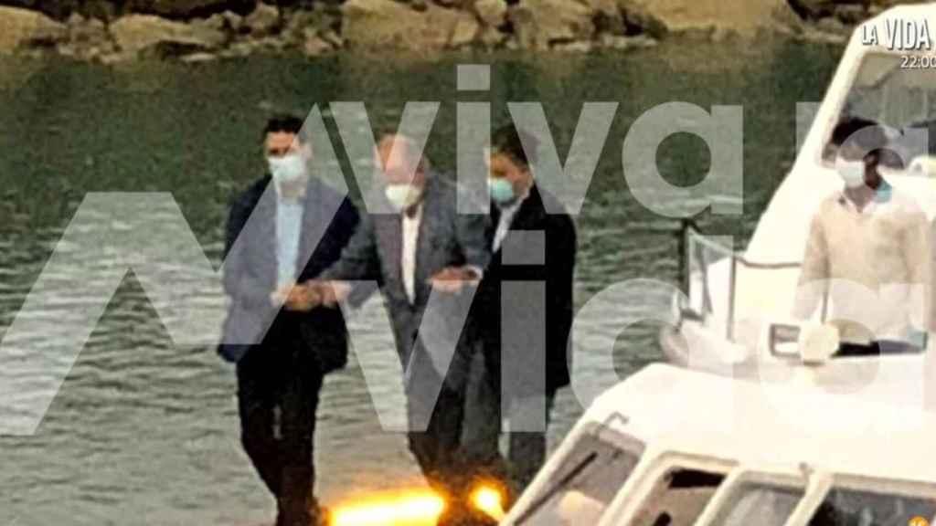 El rey Juan Carlos en la isla de Yas -Abu Dabi, Emiratos Árabes Unidos.