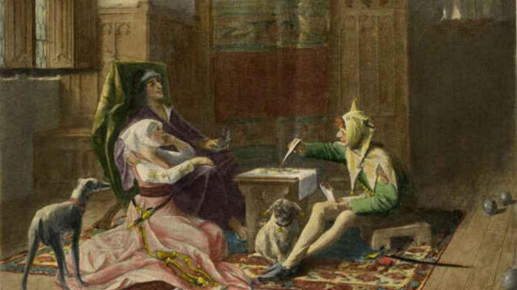 Retrato de Carlos VI y Odette.