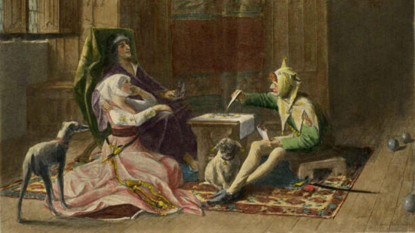 Portrait de Charles VI et Odette.