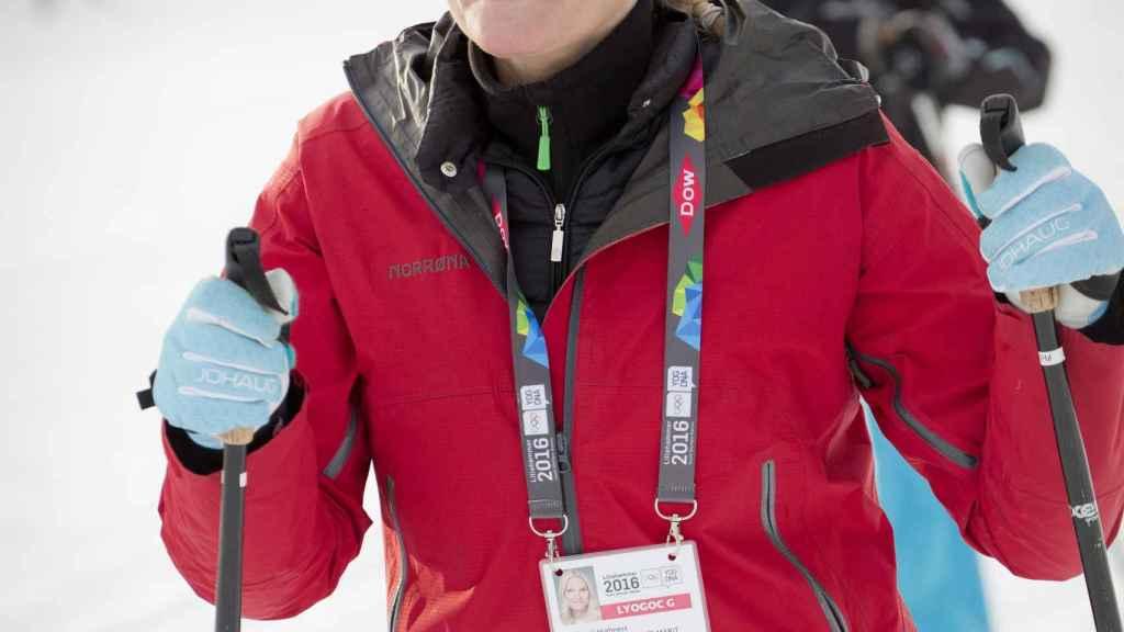 Mette-Marit esquiando en una imagen de archivo.