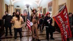 Manifestantes pro Trump en el interior del Capitolio el pasado miércoles.
