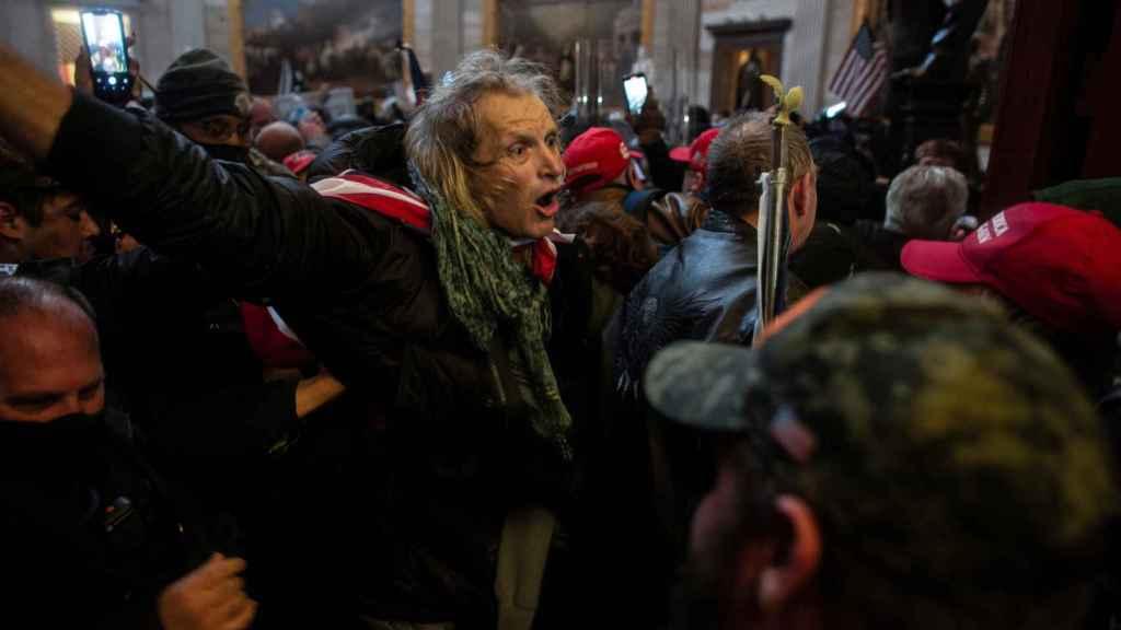 Manifestantes pro Trump durante el asalto al Capitolio.