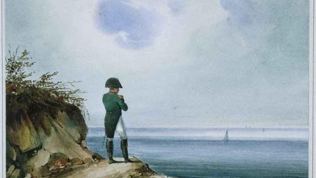 'Napoleón en Santa Elena', un lienzo de François-Joseph Sandmann.