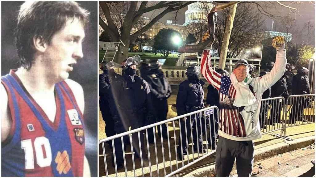 David Wood, entre los manifestantes del Capitolio