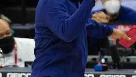 Doc Rivers, entrenador de los Philadelphia 76ers