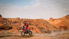 Joan Barreda en la etapa 5 del Rally Dakar 2021